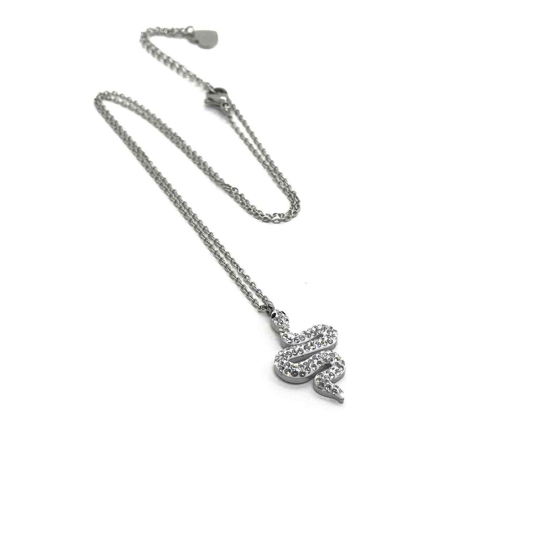 Necklace Tiny Snake Pendant