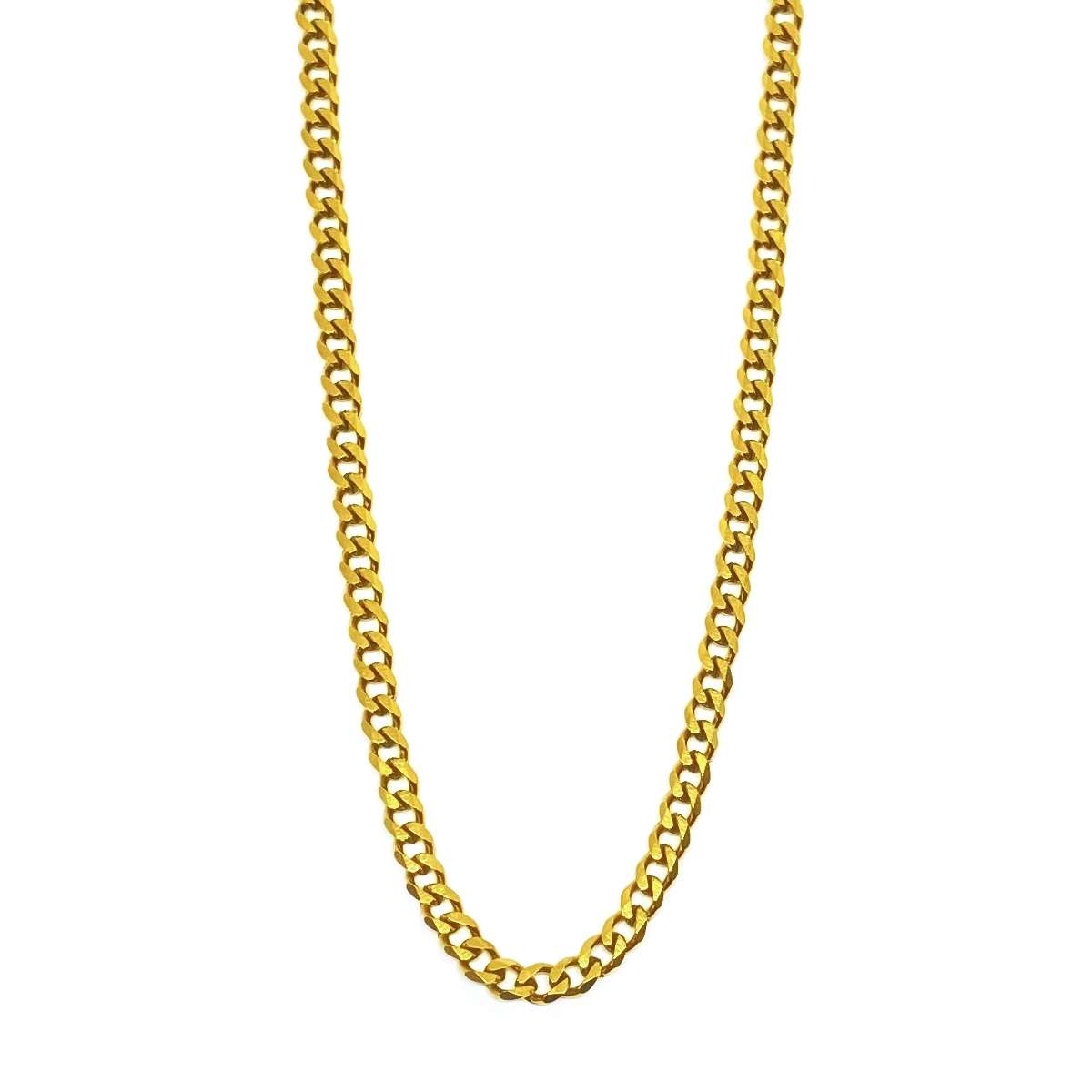 Miami Cuban Link Chain 9kt Gold Filled 3,5mm X 55Cm